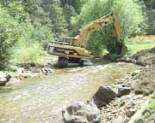 Stream renovation activity in Bear Creek at O'Fallon Park